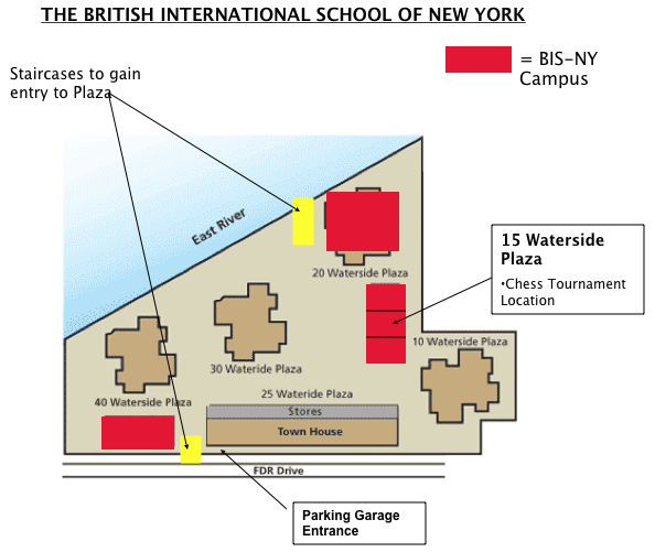 BISNY Chess Tournament Site MAP