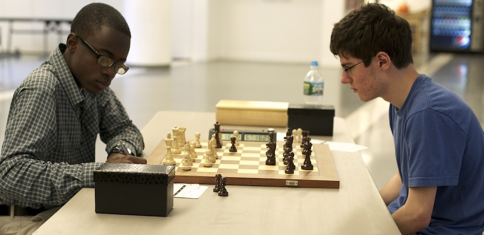 2012 NYC Rapid Chess Challenge, Joshua Colas vs Michael Bodek by Dora Leticia ©