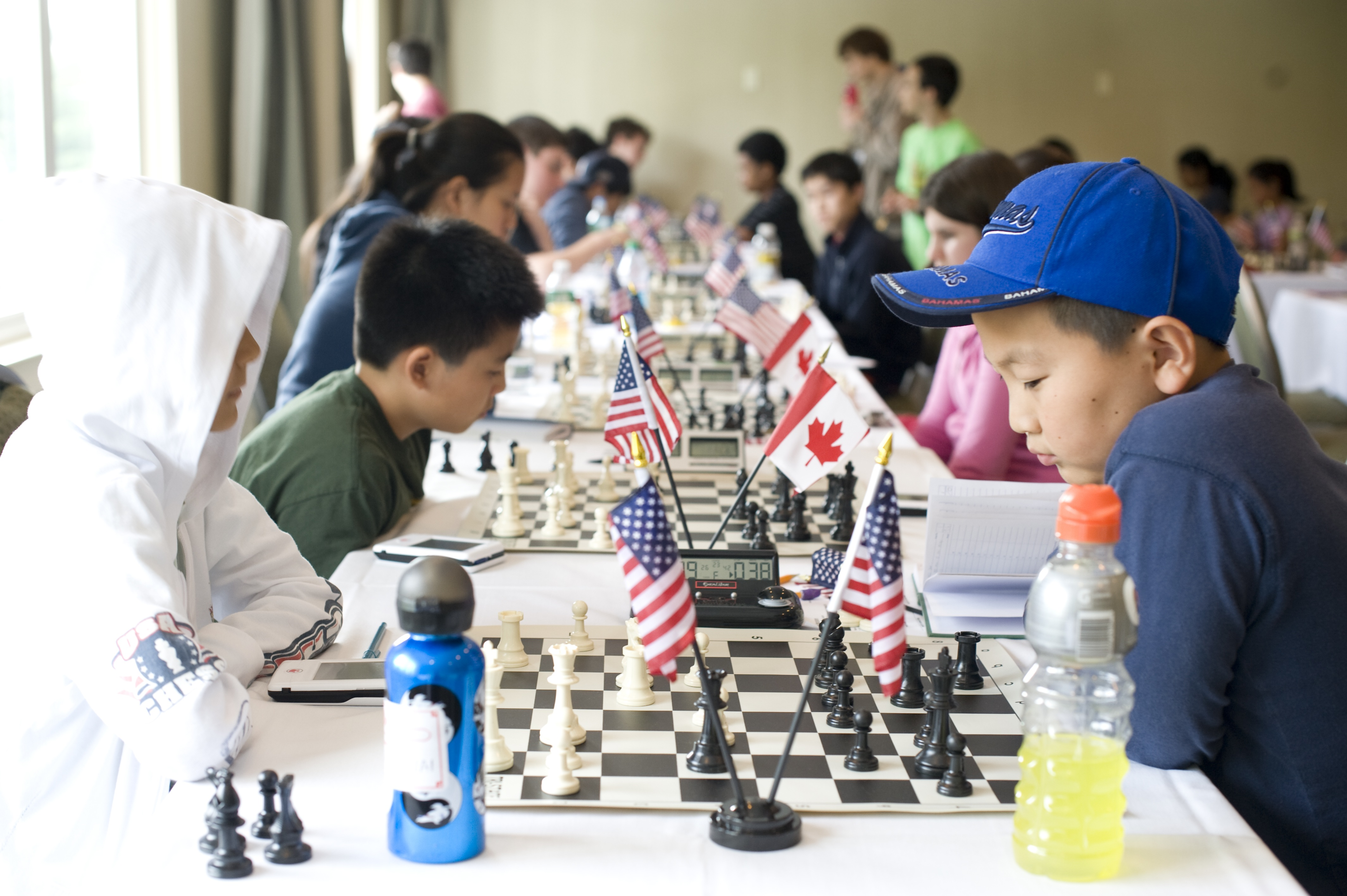 Chessplayers at the 2011 North American Youth Championship, Tarrytown, New York. Photo Credit Dora Leticia ©