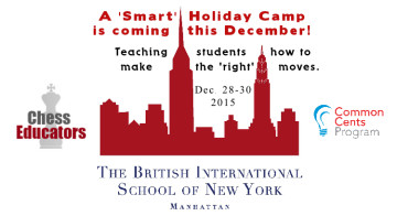 BIS-NY HOLIDAY CAMP – CHESS AND COMMON CENTS (Dec. 28-30, 2015)