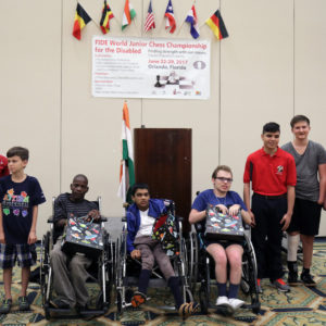 Round 1: The World Junior Chess Championship for Disabled has begun