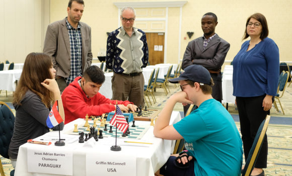 The 1st World Junior Chess Championship for the Disabled: Raphael Johannes Zimmer (Germany) leads with 6 points